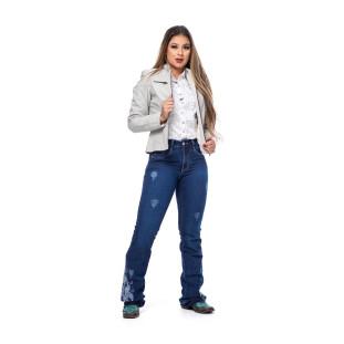 JAQUETA DE COURO FEMININA TEXAS FARM JCF001 BRANCO